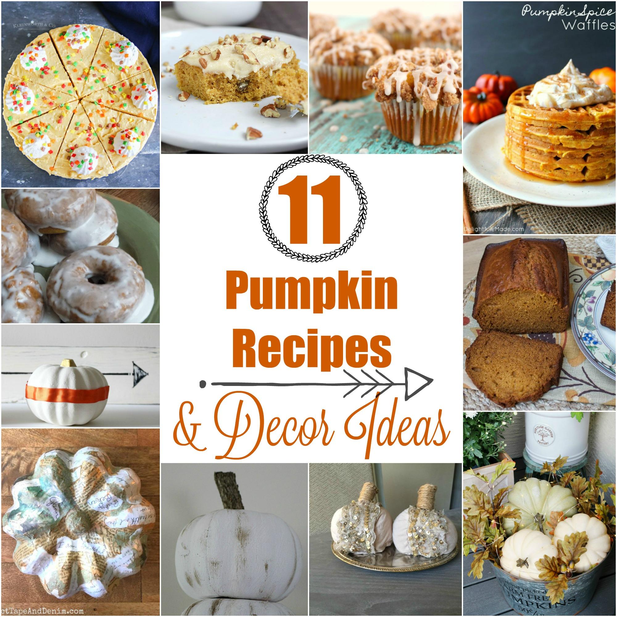 11 Pumpkin Recipes and Decor Ideas