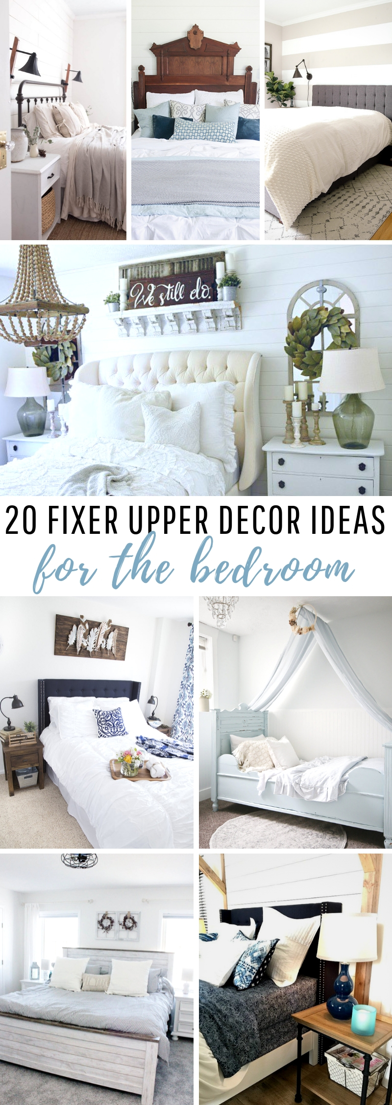 Fixer Upper Decor Ideas for the Bedroom