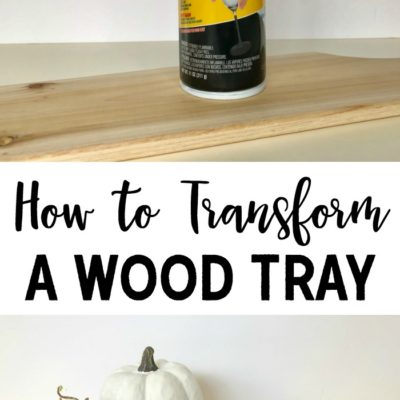 How to Transform a Wood Tray with Plasti Dip