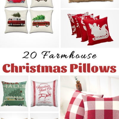 20 Farmhouse Christmas Pillows
