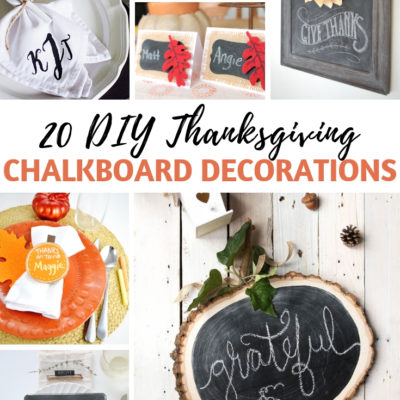 20 DIY Thanksgiving Chalkboard Decorations