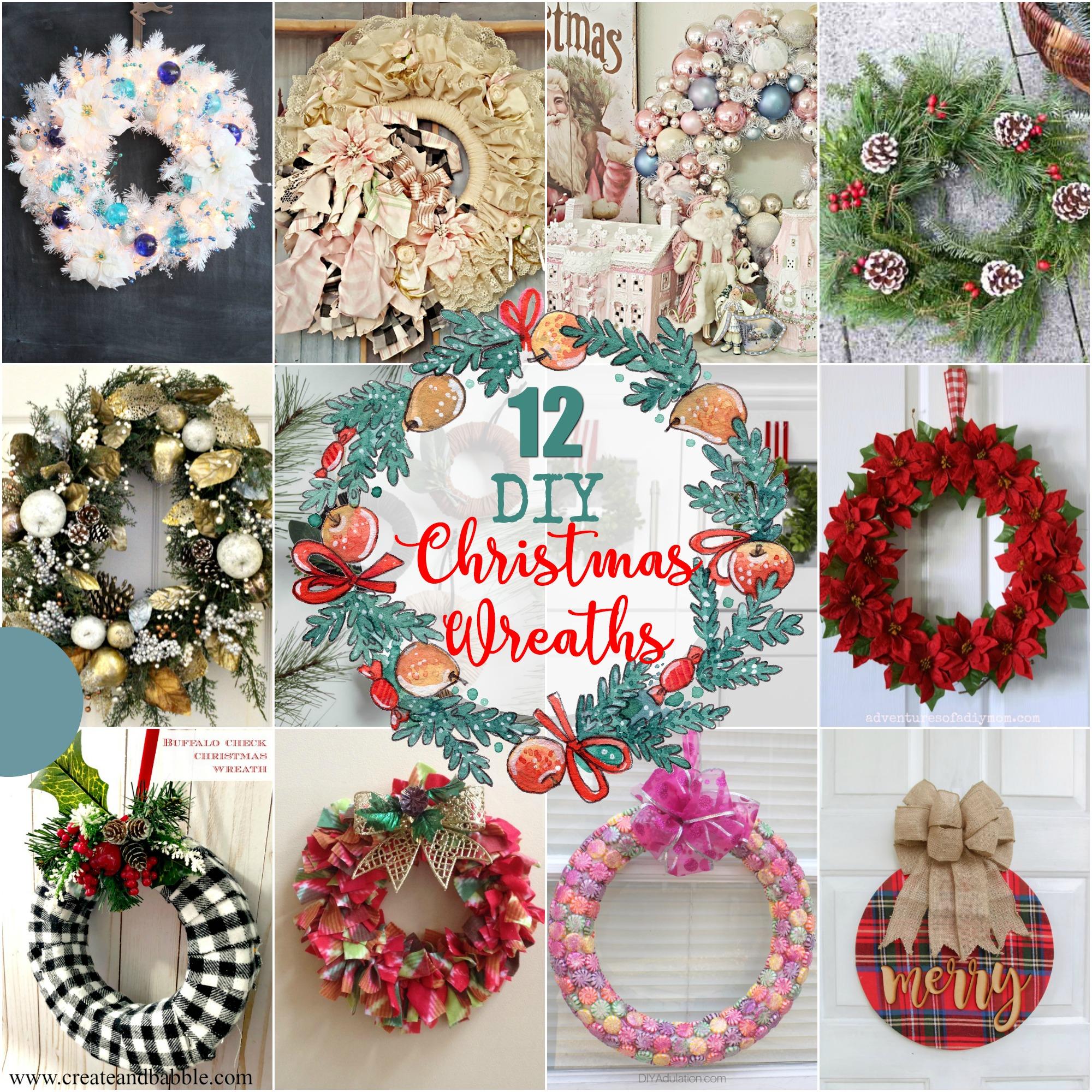12 DIY Christmas Wreaths