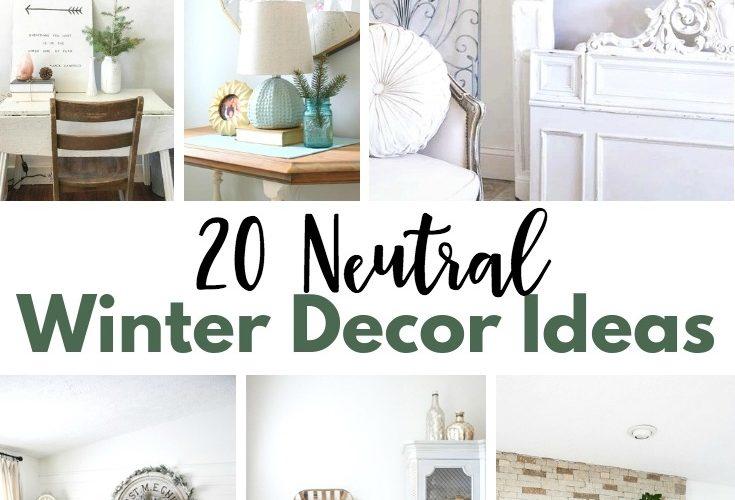 Neutral Winter Decor Ideas