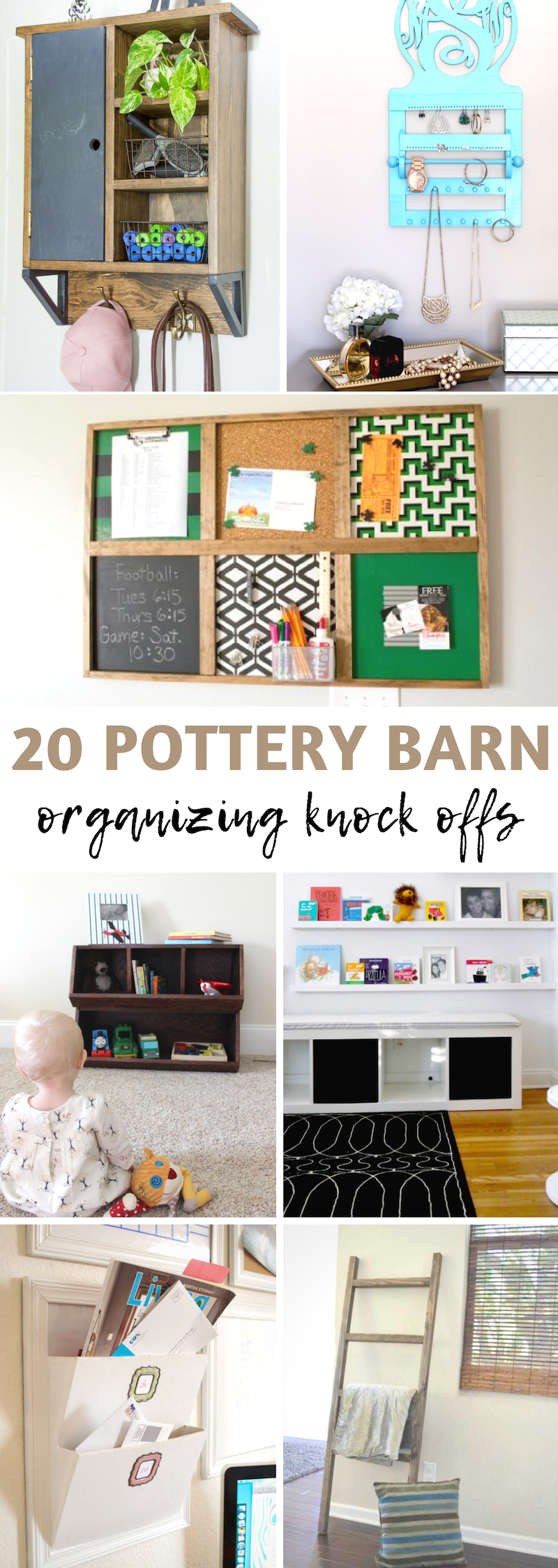 Pottery Barn Organizing Knock Offs