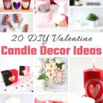 20 DIY Valentine Candle Decor Ideas