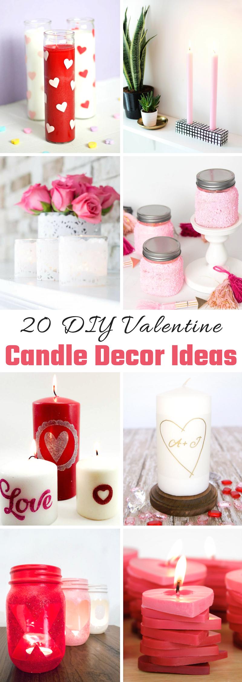 Valentine Candle Decor Ideas