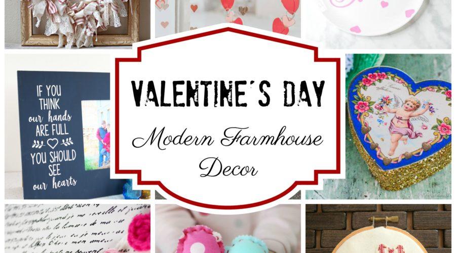Valentine's Day Inspired Modern Farmhouse Decor