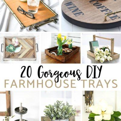 20 Gorgeous DIY Farmhouse Trays