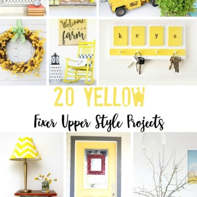 20 Yellow Fixer Upper Style Projects
