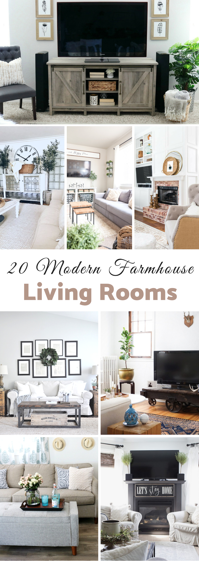 Modern Farmhouse Living Rooms