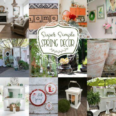 Super Simple Spring Decor