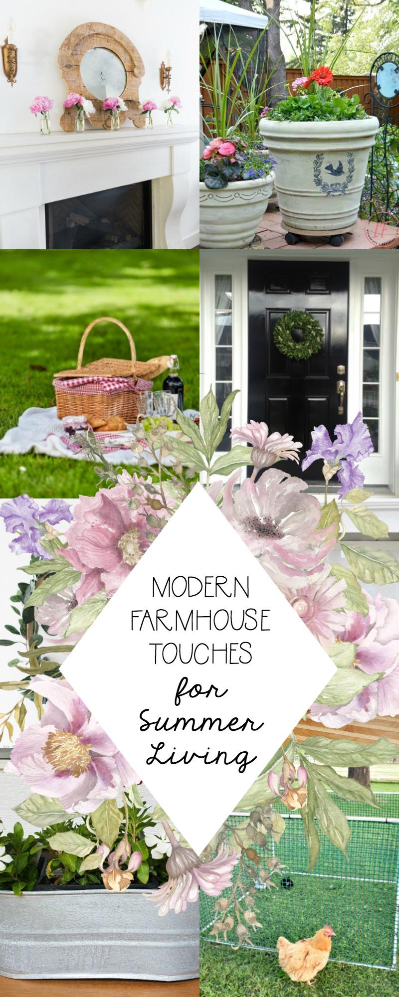 Modern Farmhouse Touches for Farmhouse Living