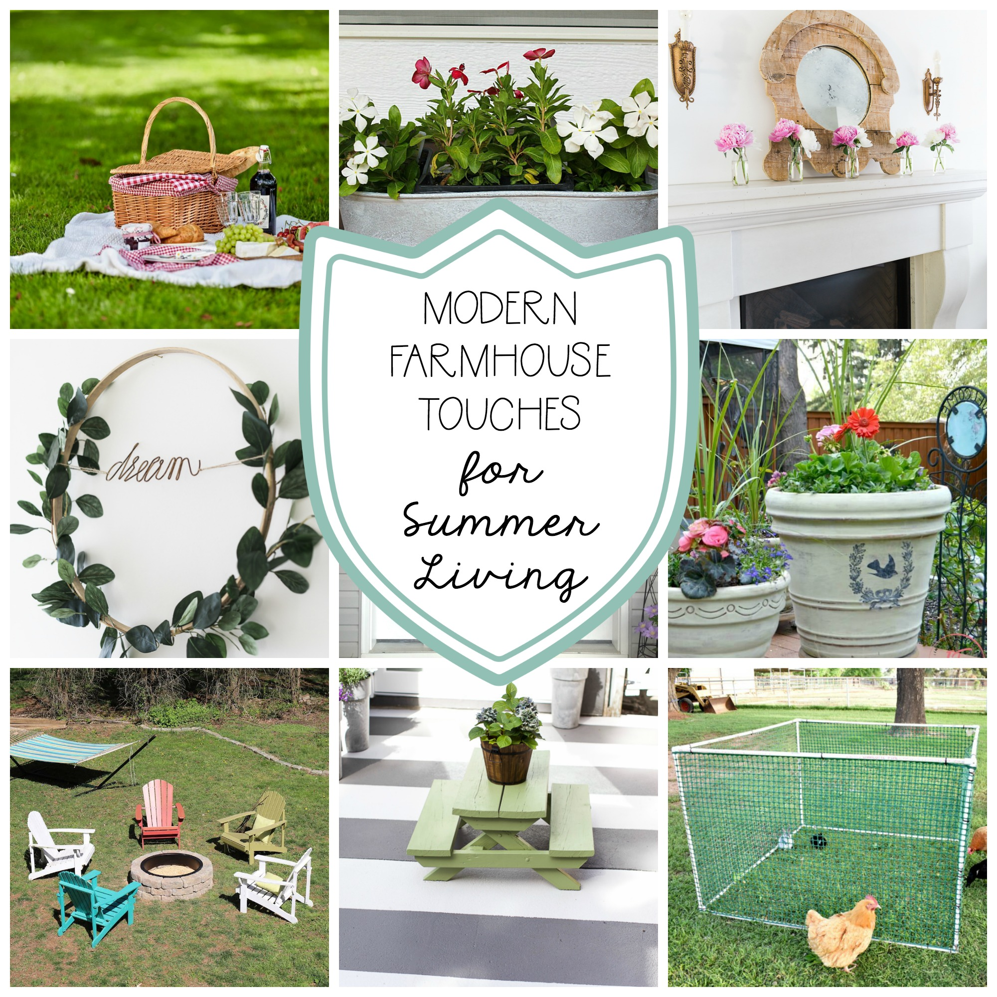 Modern Farmhouse Touches for Summer Living