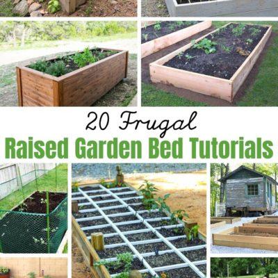 20 Raised Garden Bed Tutorials