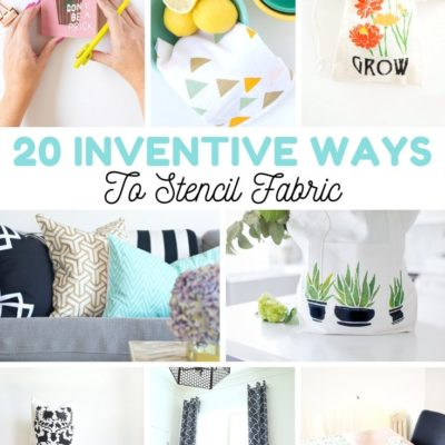 20 Inventive Ways to Stencil Fabric