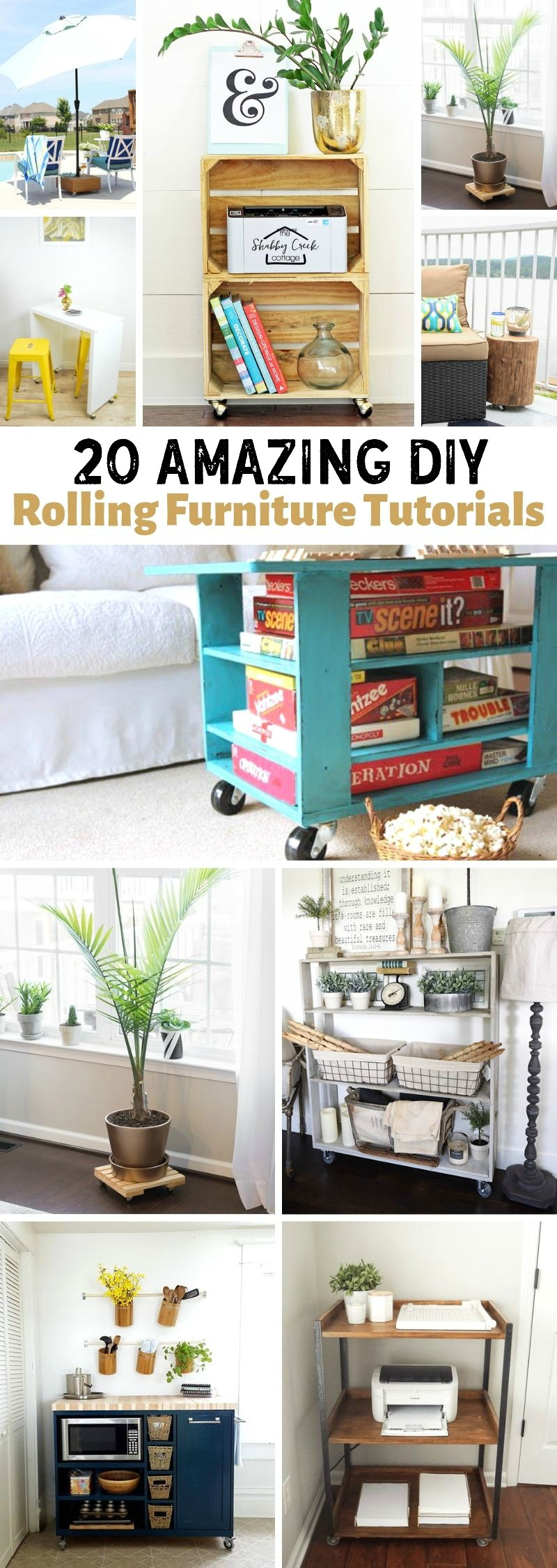 DIY Rolling Furniture