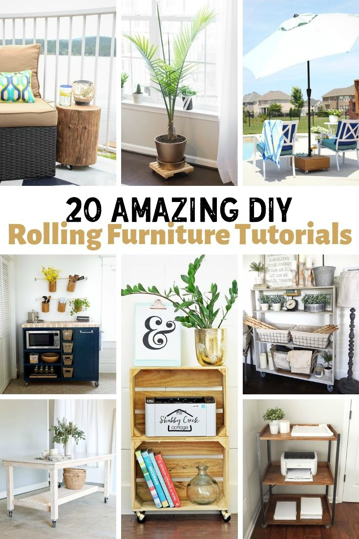 DIY Rolling Furniture Tutorials