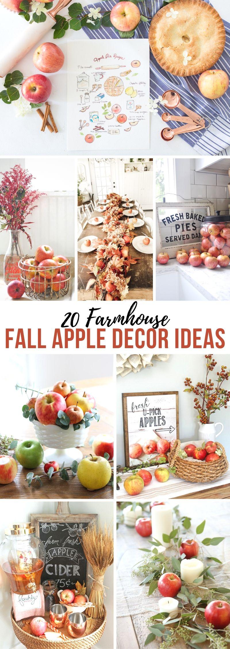 Farmhouse Fall Apple Decor Ideas
