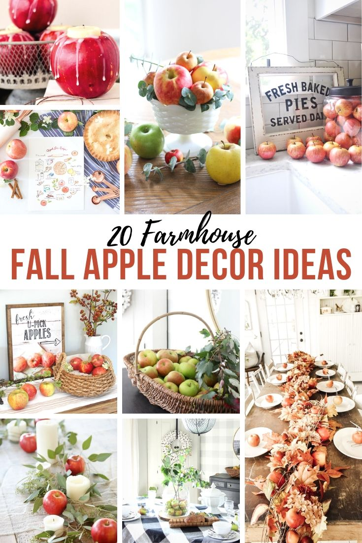 Farmhouse Fall Apple Decor Ideas