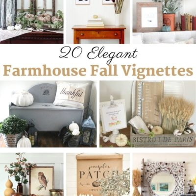 Farmhouse Fall Vignettes