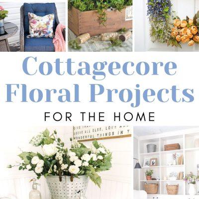 20 Cottagecore Floral Decor DIY Ideas
